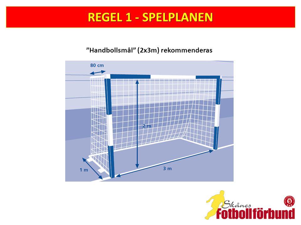REGEL 1 - SPELPLANEN Handbollsmål (2x3m) rekommenderas