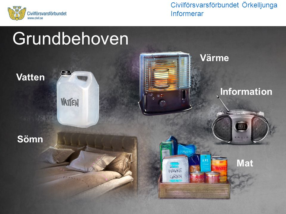Grundbehoven Värme Vatten Information Sömn Mat