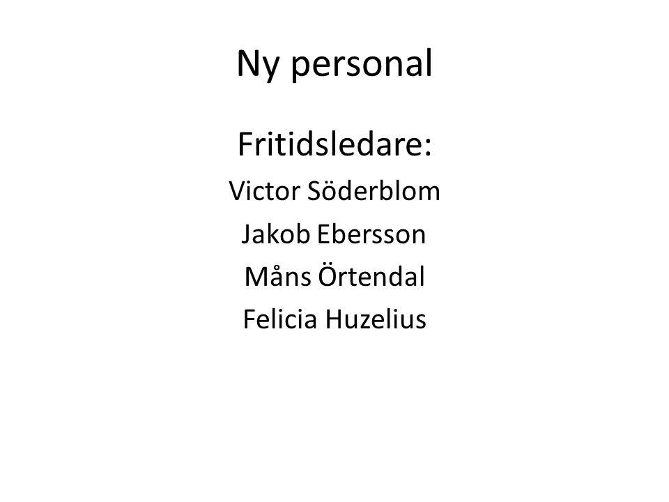 Ny personal Fritidsledare: Victor Söderblom Jakob Ebersson