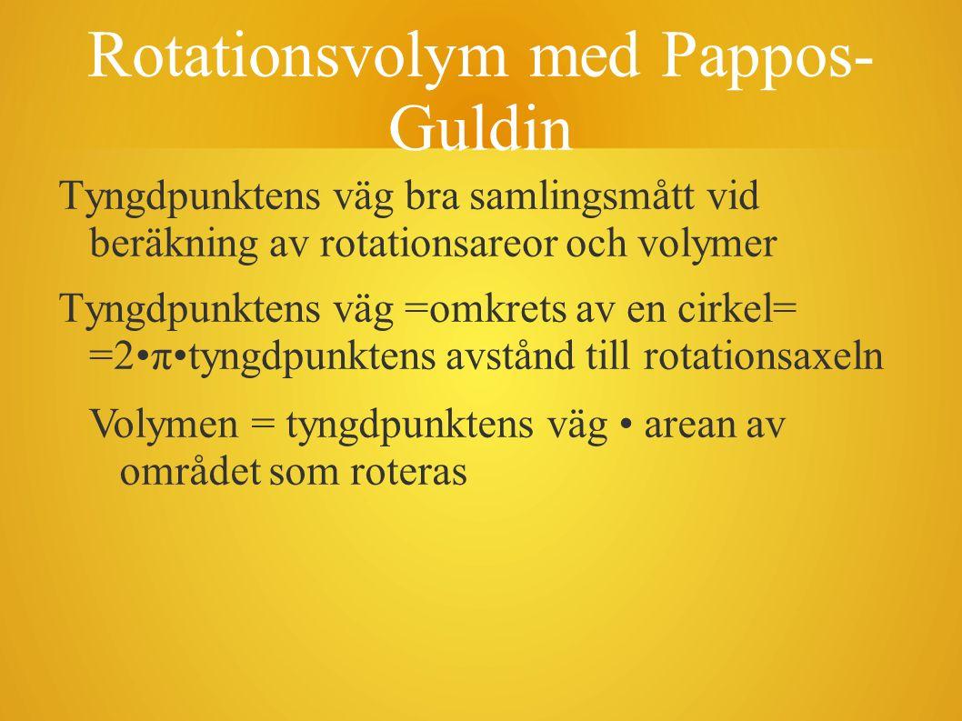 Rotationsvolym med Pappos-Guldin
