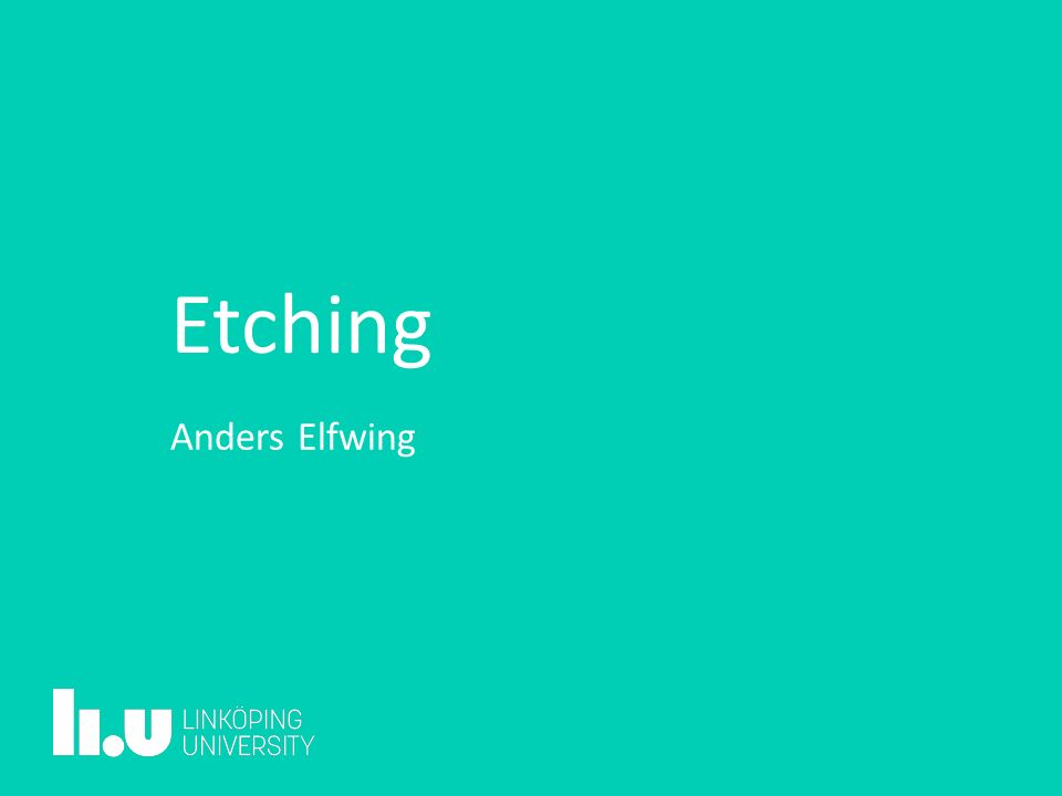 Etching Anders Elfwing