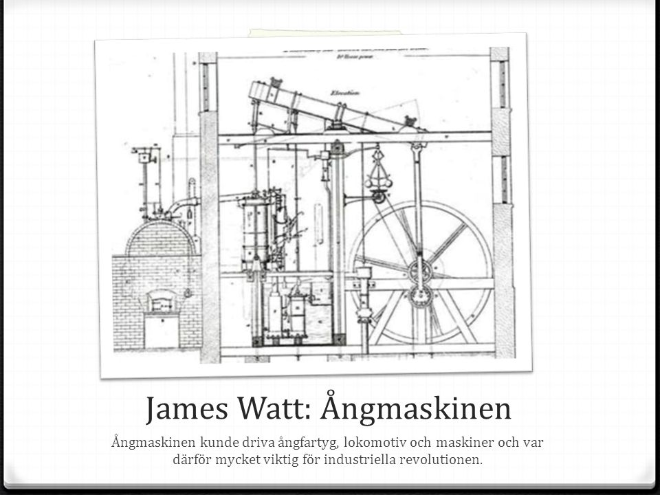 James Watt: Ångmaskinen
