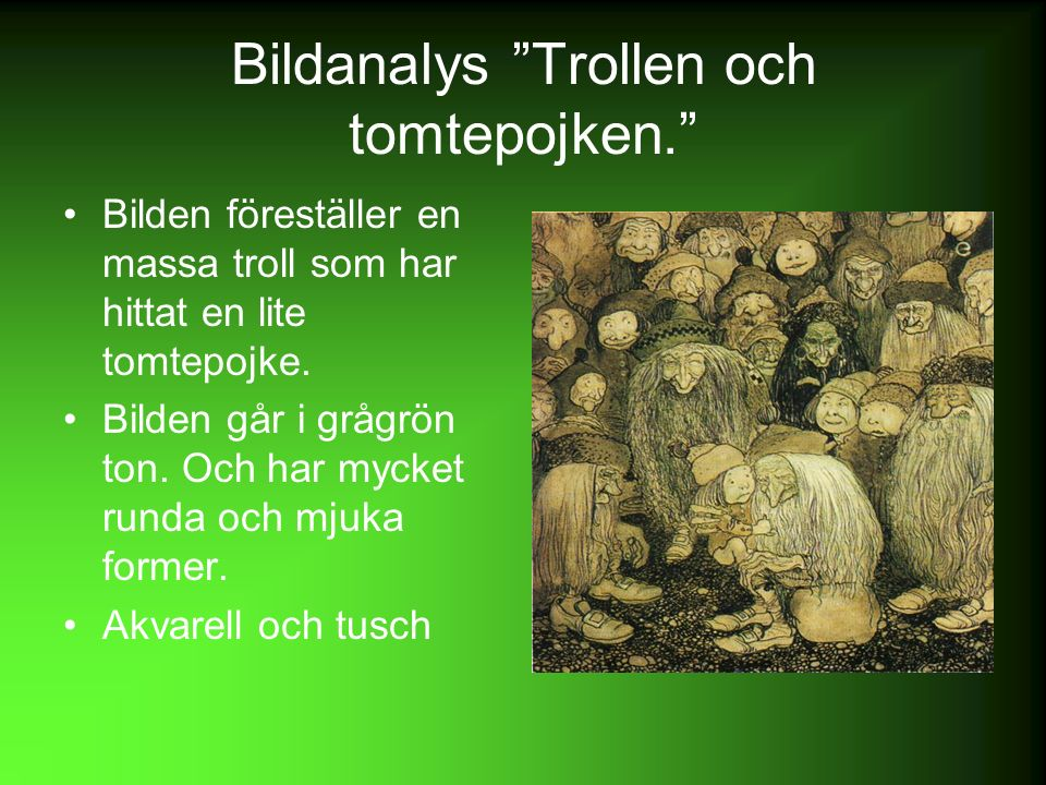 Bildanalys Trollen och tomtepojken.