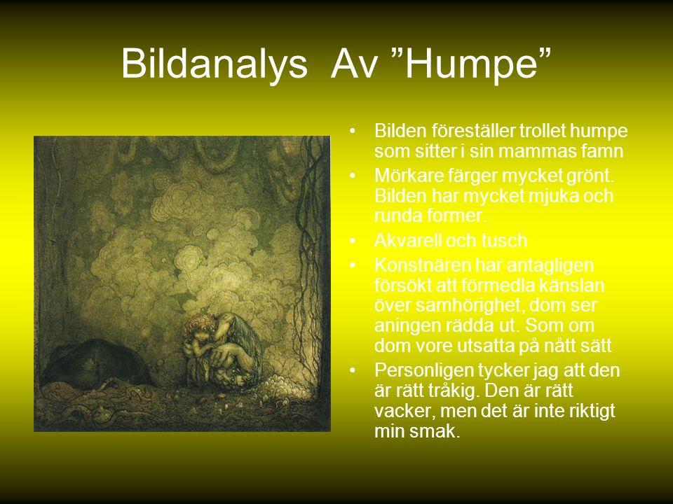Bildanalys Av Humpe Bilden föreställer trollet humpe som sitter i sin mammas famn.