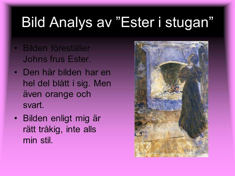 Bild Analys av Ester i stugan
