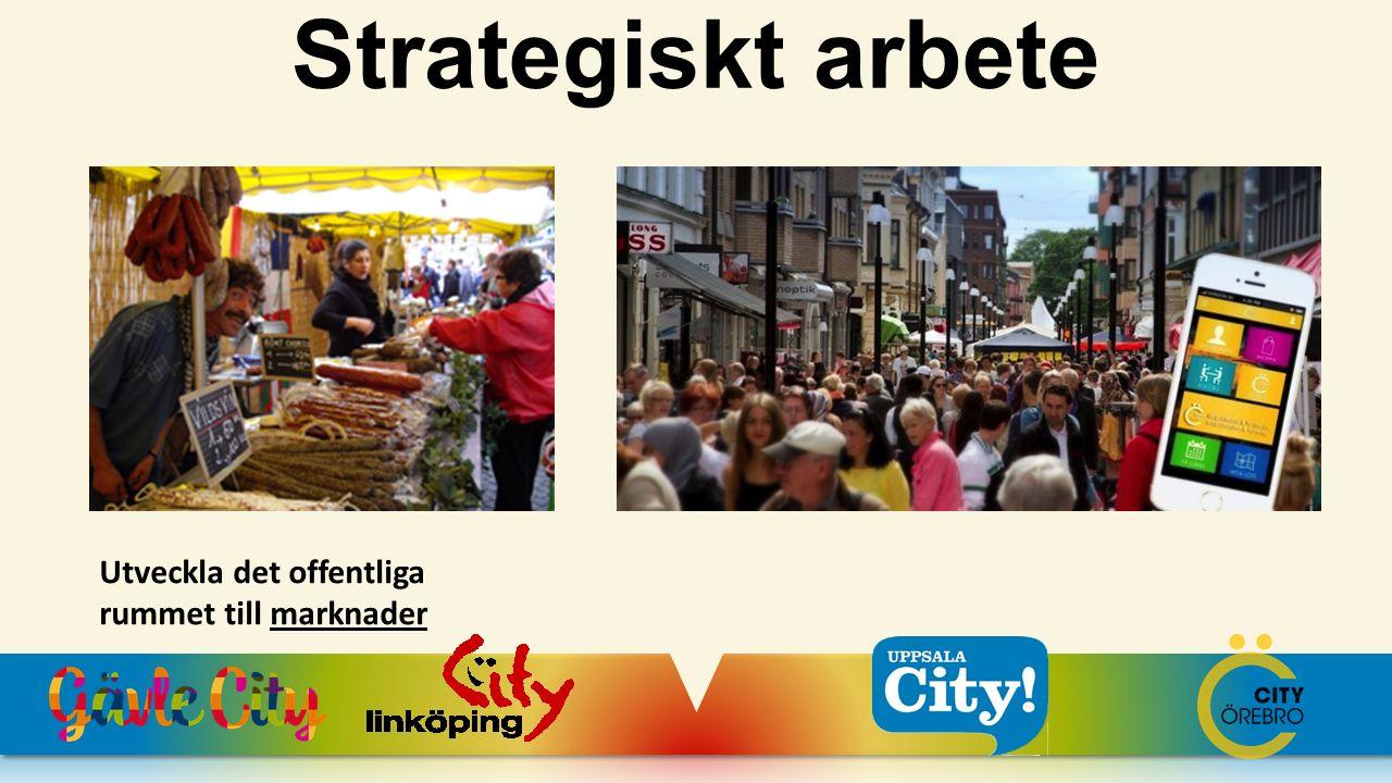 Strategiskt arbete Utveckla det offentliga rummet till marknader