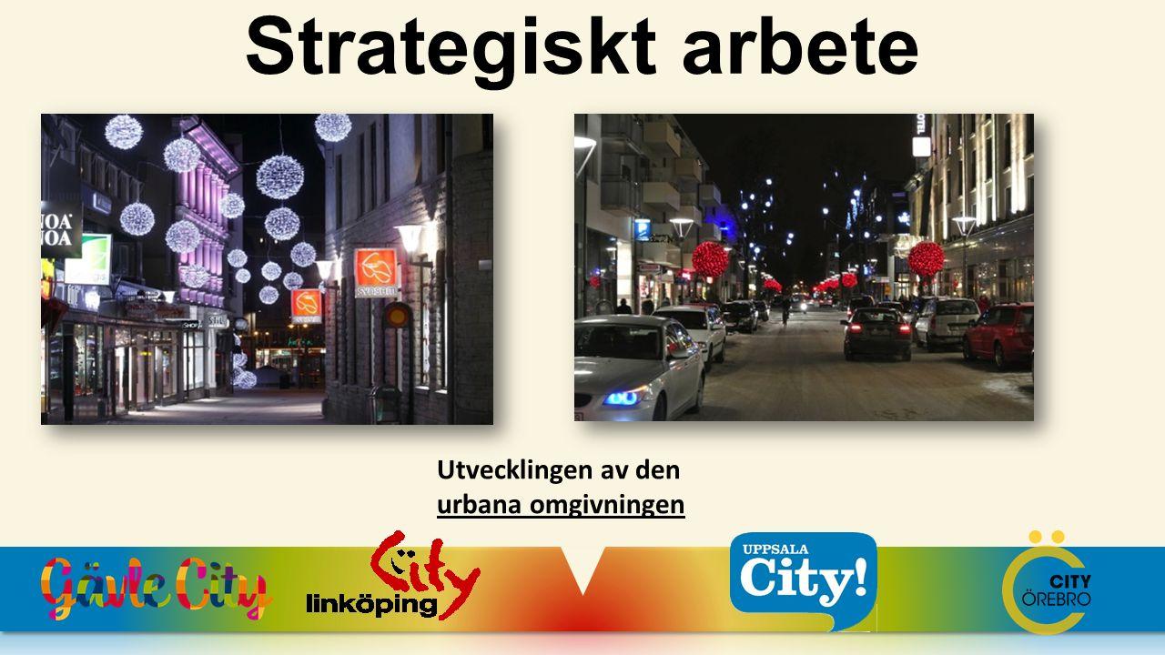 Strategiskt arbete Utvecklingen av den urbana omgivningen