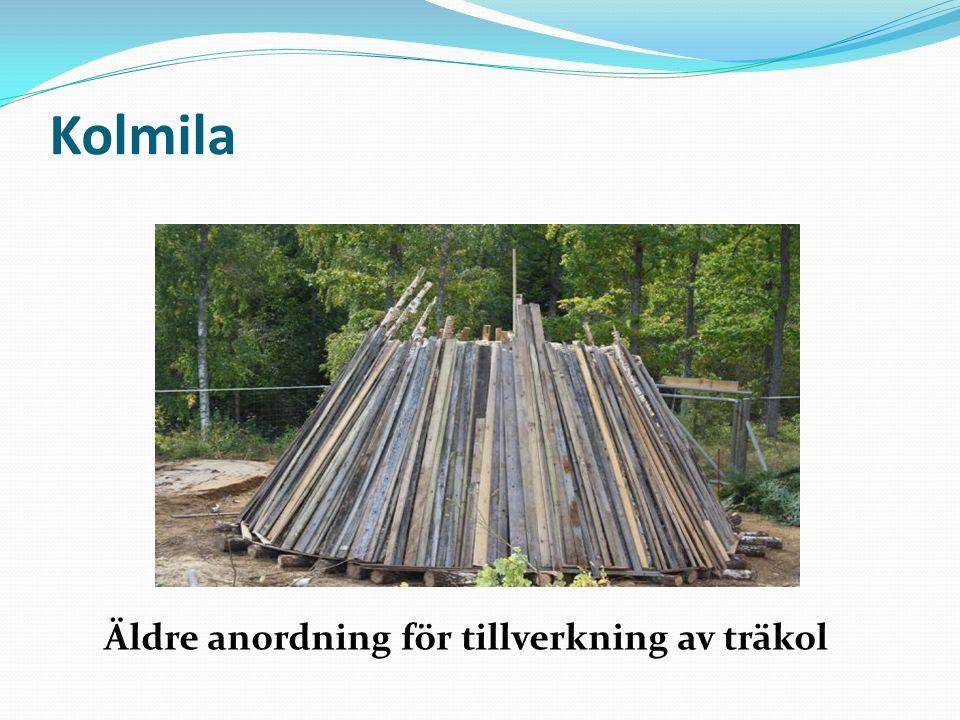 Kolmila Äldre anordning för tillverkning av träkol