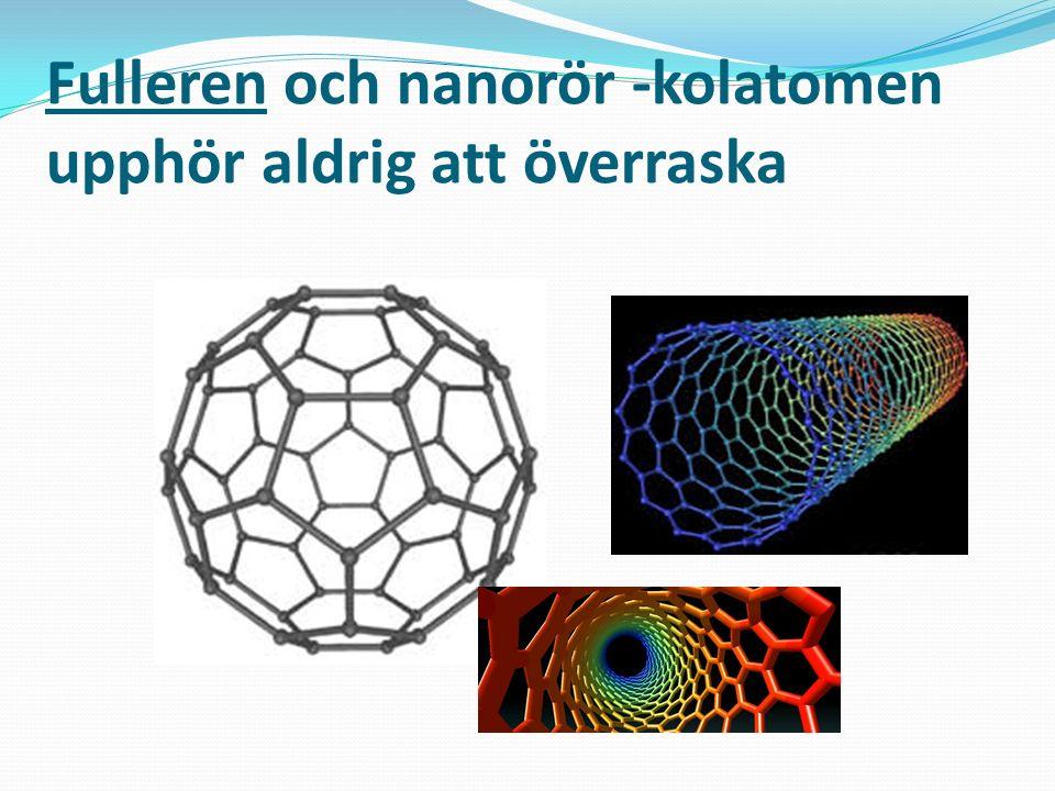 Fulleren och nanorör -kolatomen upphör aldrig att överraska