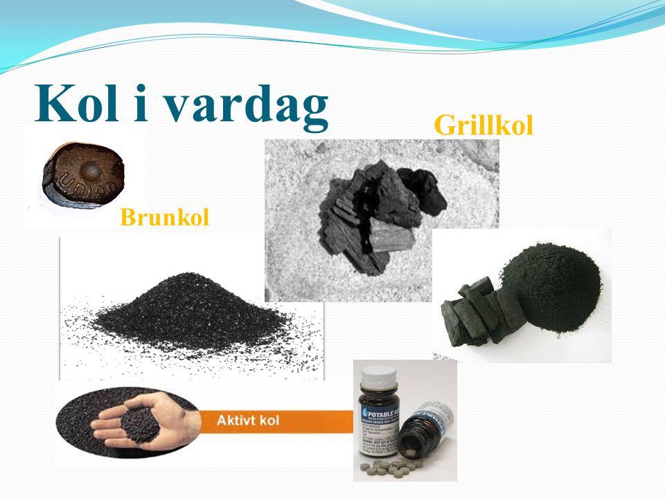 Kol i vardag Grillkol Brunkol Stenkol , brunkol och antracit