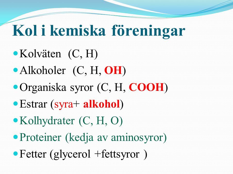 Kol i kemiska föreningar