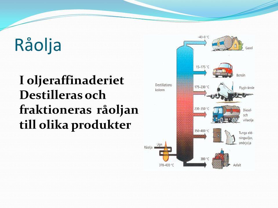 Råolja I oljeraffinaderiet
