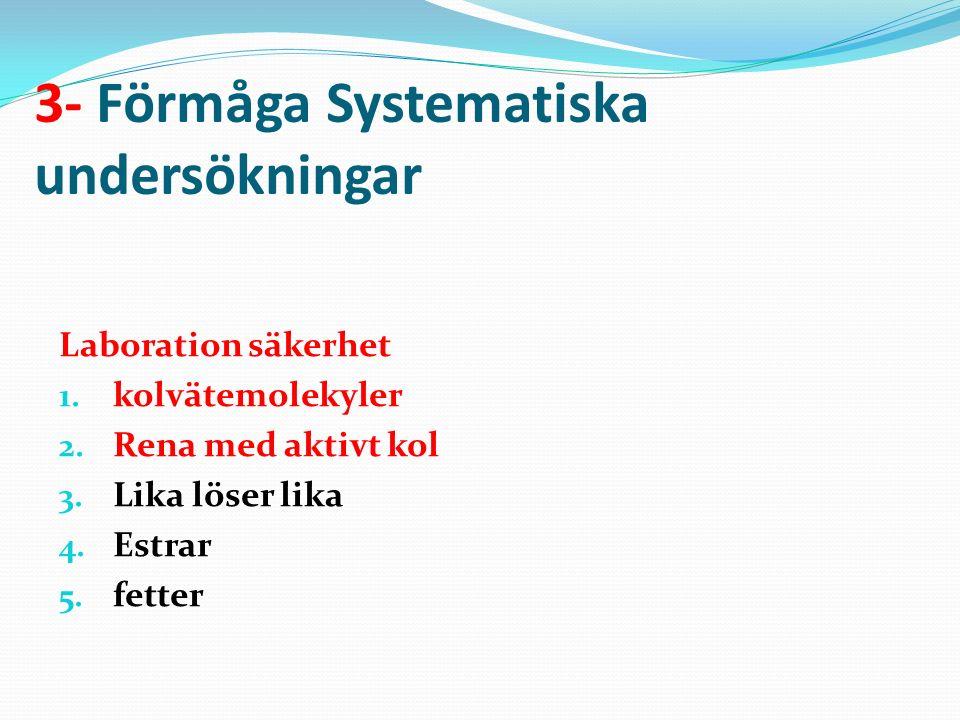 3- Förmåga Systematiska undersökningar