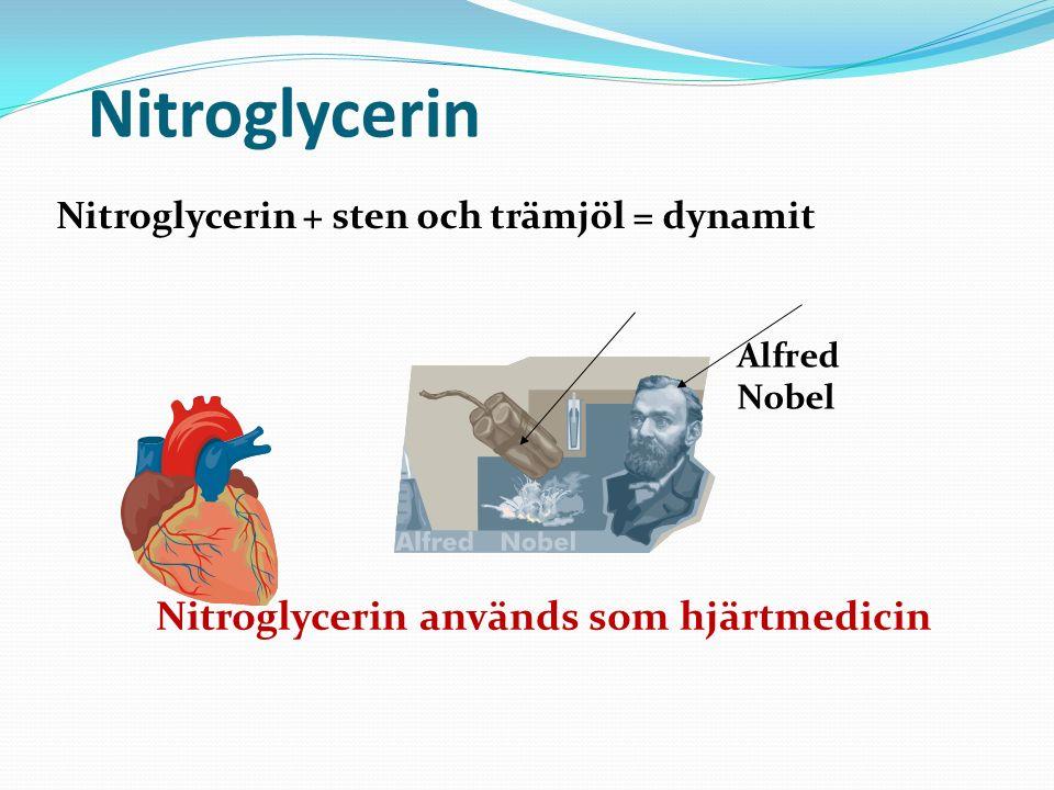 Nitroglycerin Nitroglycerin används som hjärtmedicin