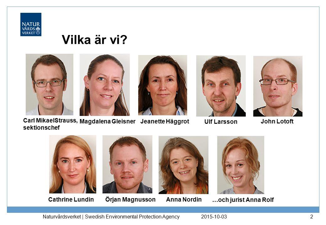 Vilka är vi Carl MikaelStrauss, sektionschef Magdalena Gleisner