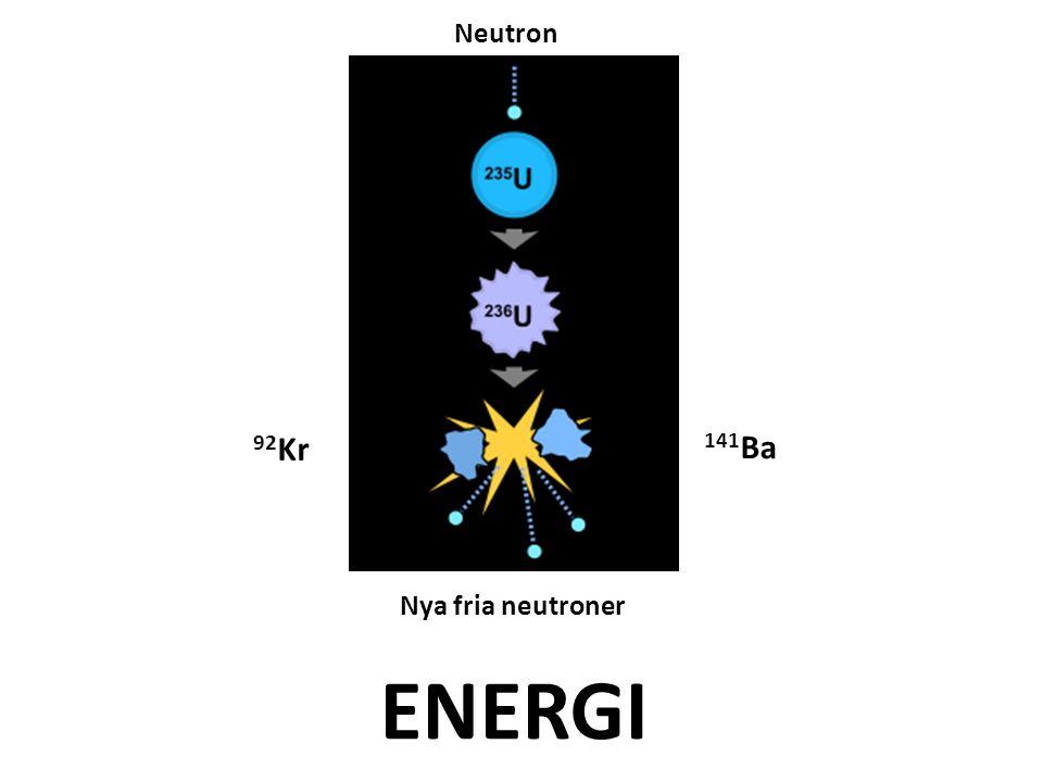 Neutron 92Kr 141Ba Nya fria neutroner ENERGI
