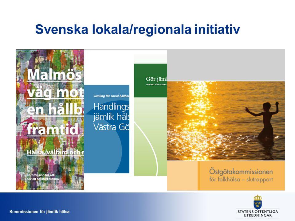 Svenska lokala/regionala initiativ