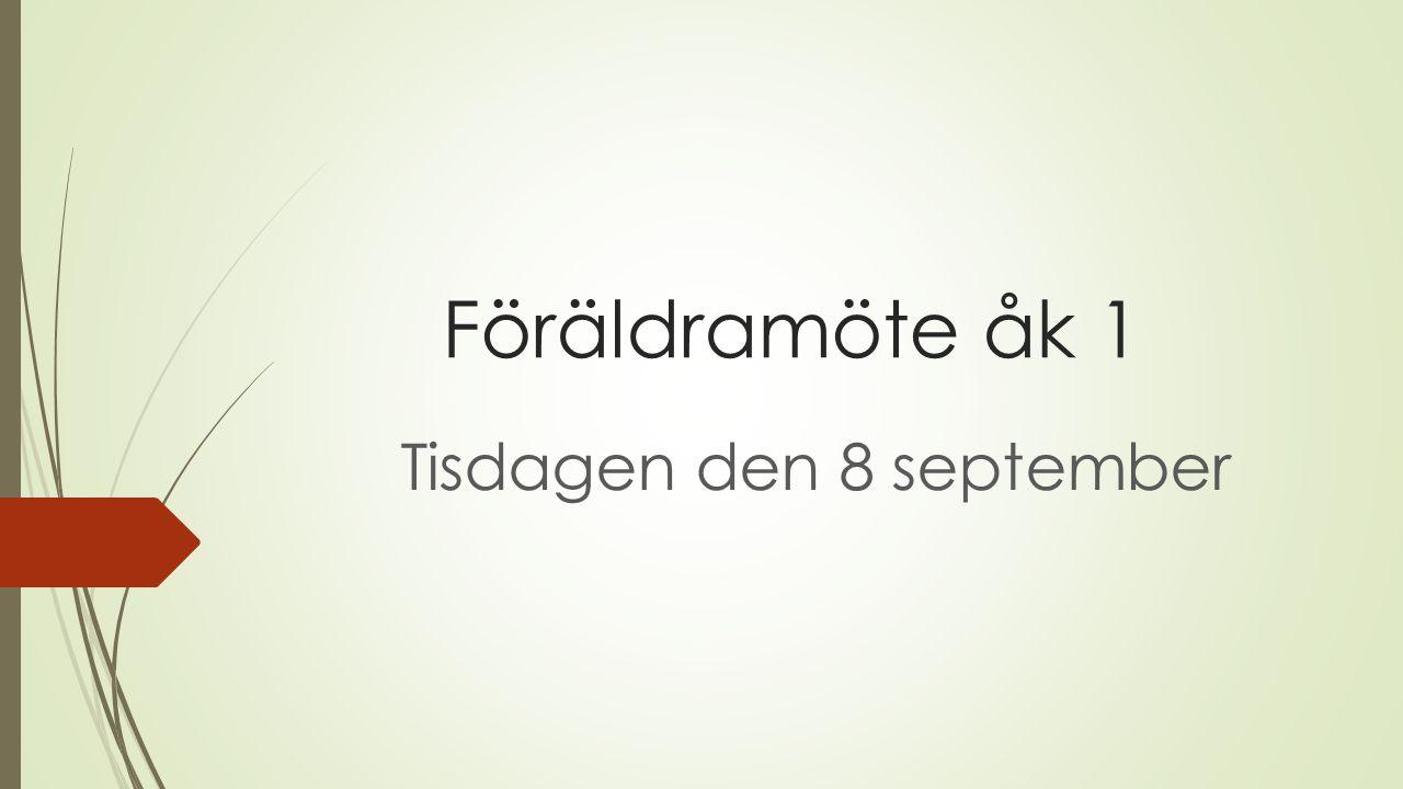 Tisdagen den 8 september
