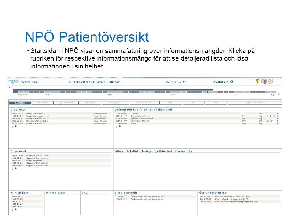 NPÖ Patientöversikt