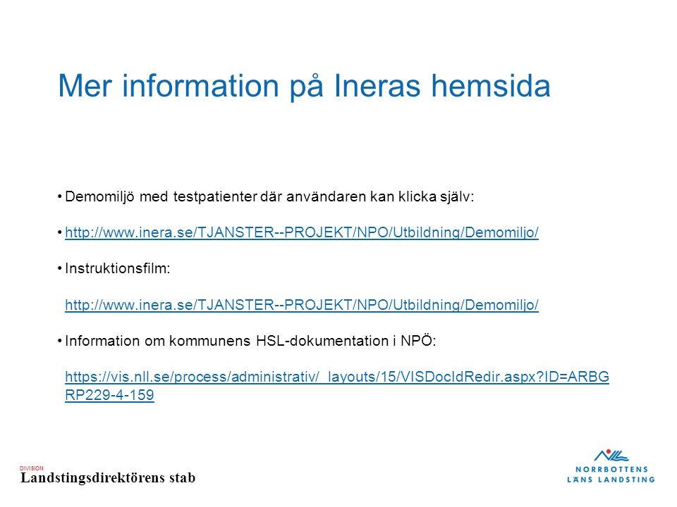 Mer information på Ineras hemsida