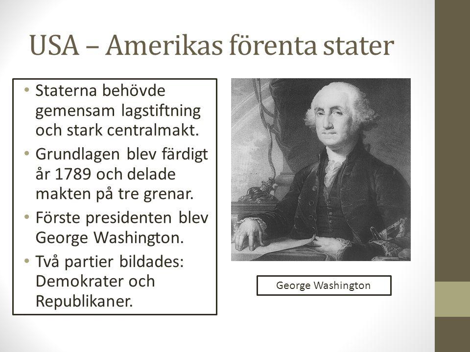 USA – Amerikas förenta stater
