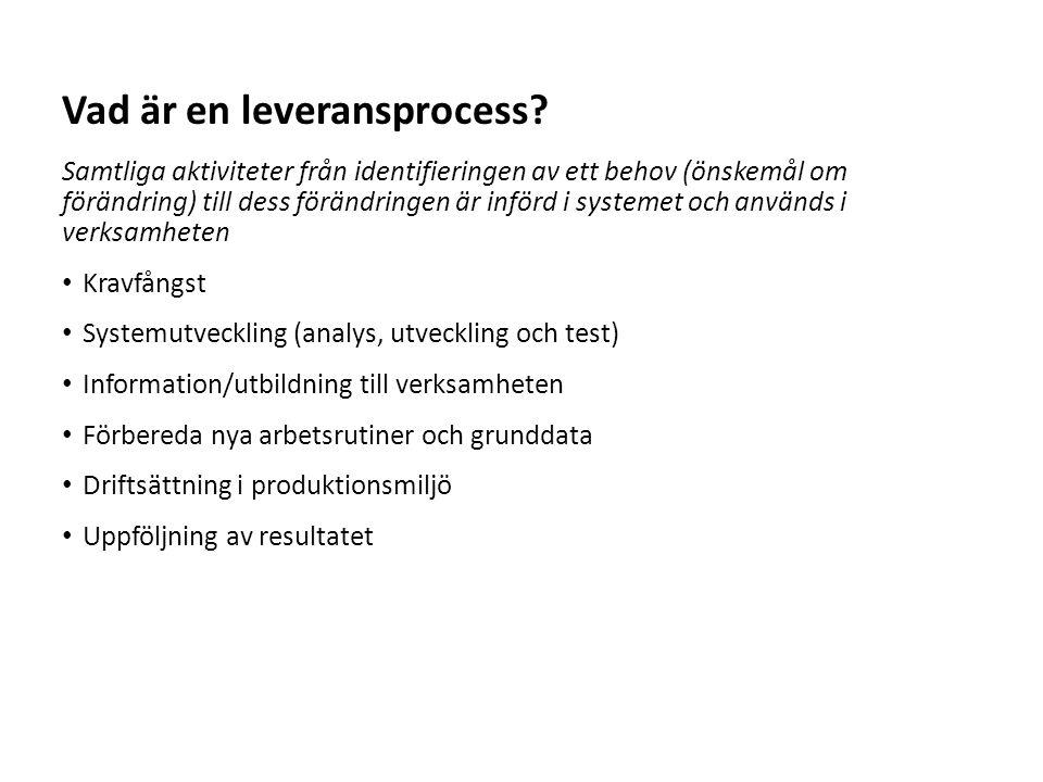 Vad är en leveransprocess