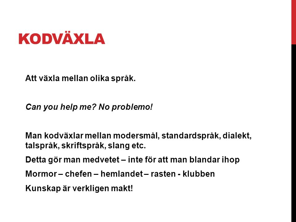 KODVÄXLA