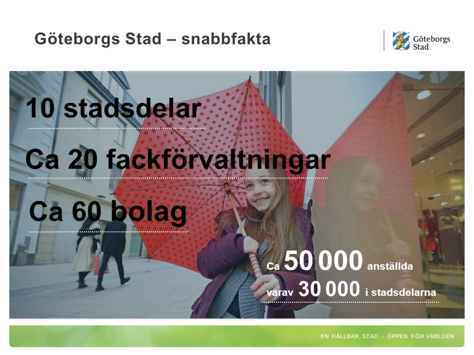 Göteborgs Stad – snabbfakta