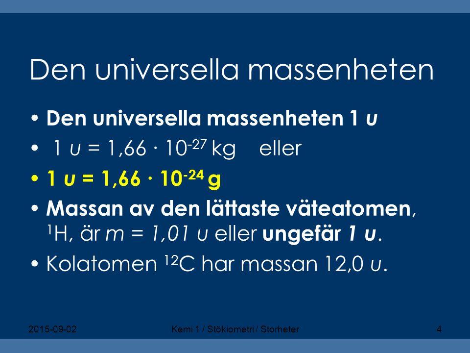 Den universella massenheten