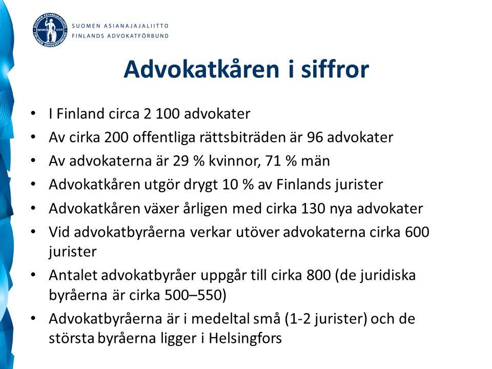 Advokatkåren i siffror