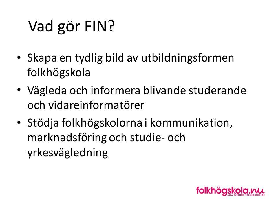 Vad gör FIN Skapa en tydlig bild av utbildningsformen folkhögskola