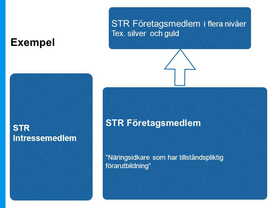 Exempel STR Företagsmedlem i flera nivåer STR Företagsmedlem