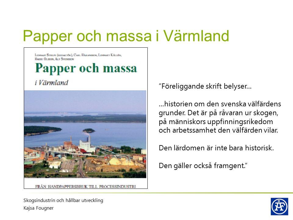 Papper och massa i Värmland