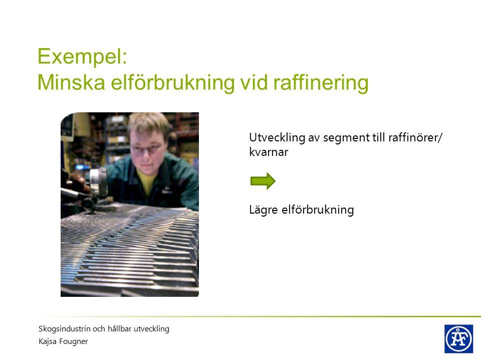Exempel: Minska elförbrukning vid raffinering