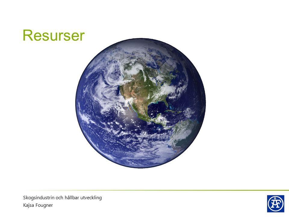 Resurser Skogsindustrin och hållbar utveckling Kajsa Fougner