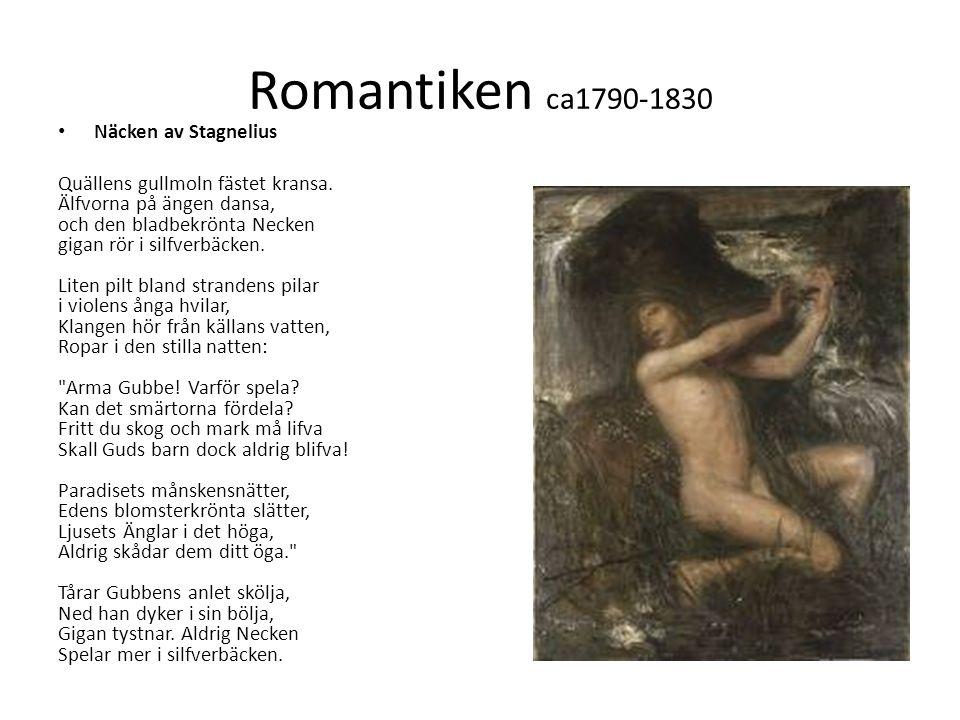 Romantiken ca1790-1830 Näcken av Stagnelius
