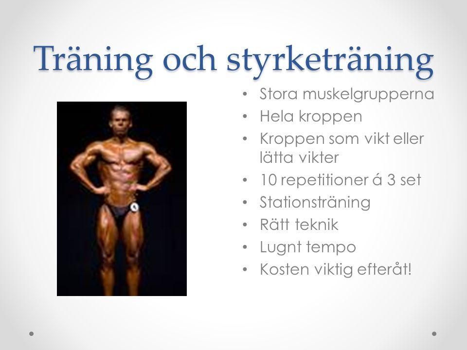 Träning och styrketräning