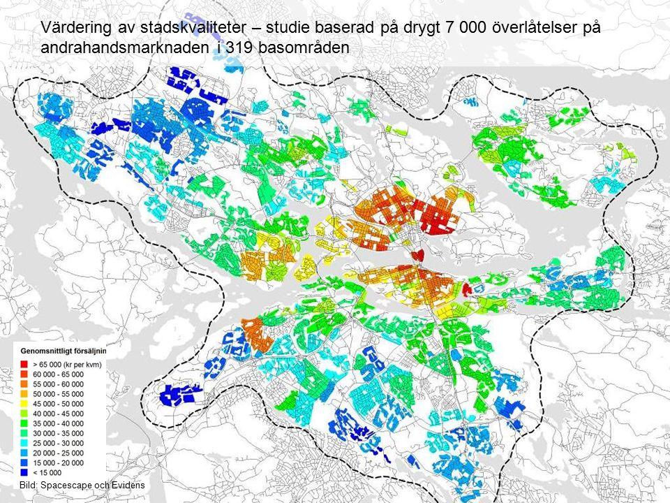 Värdering av stadskvaliteter – studie baserad på drygt 7 000 överlåtelser på andrahandsmarknaden i 319 basområden