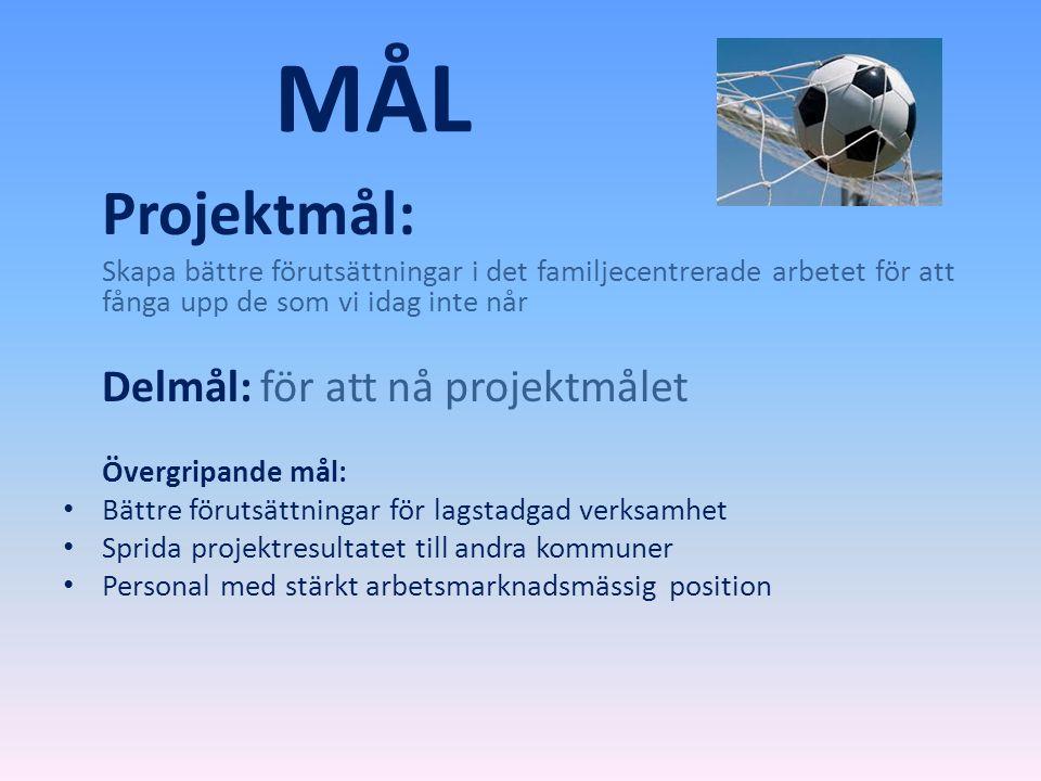 MÅL Delmål: för att nå projektmålet Projektmål: