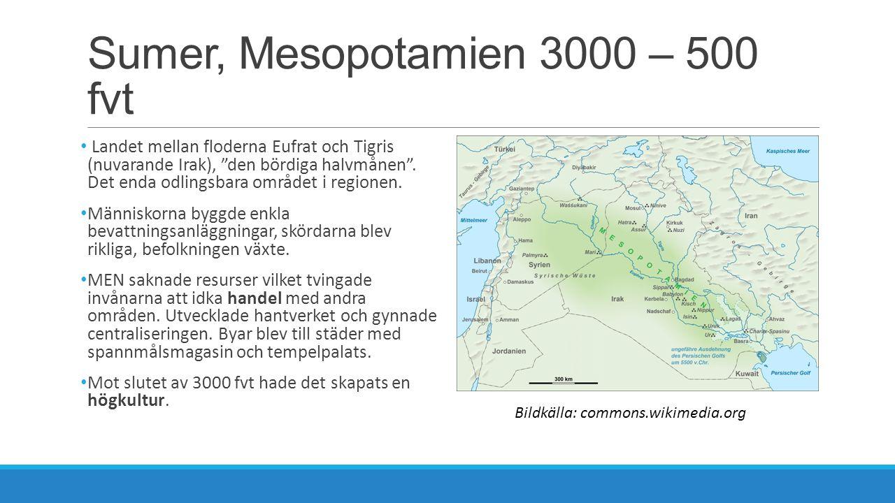 Sumer, Mesopotamien 3000 – 500 fvt