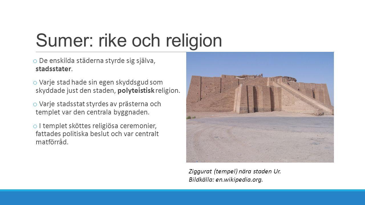 Sumer: rike och religion