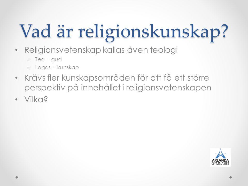 Vad är religionskunskap