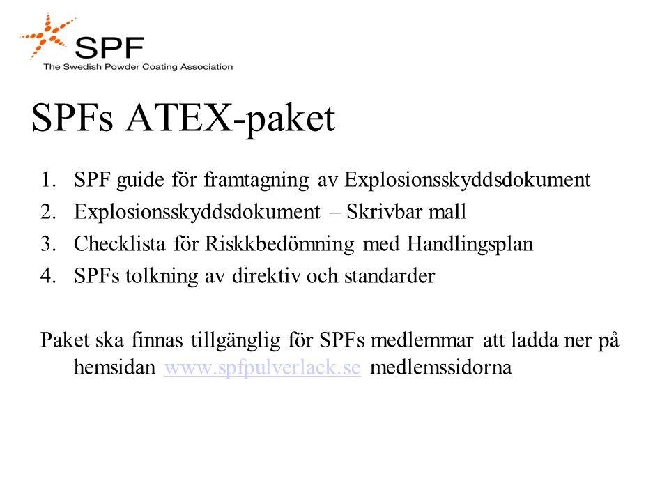 SPFs ATEX-paket SPF guide för framtagning av Explosionsskyddsdokument