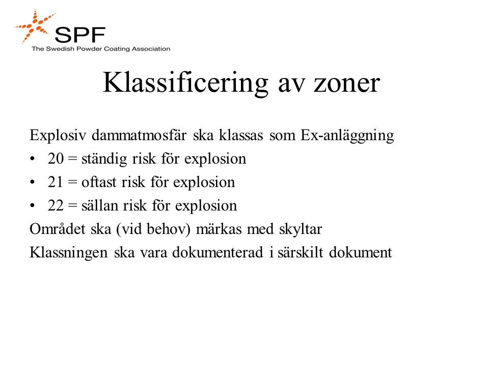 Klassificering av zoner