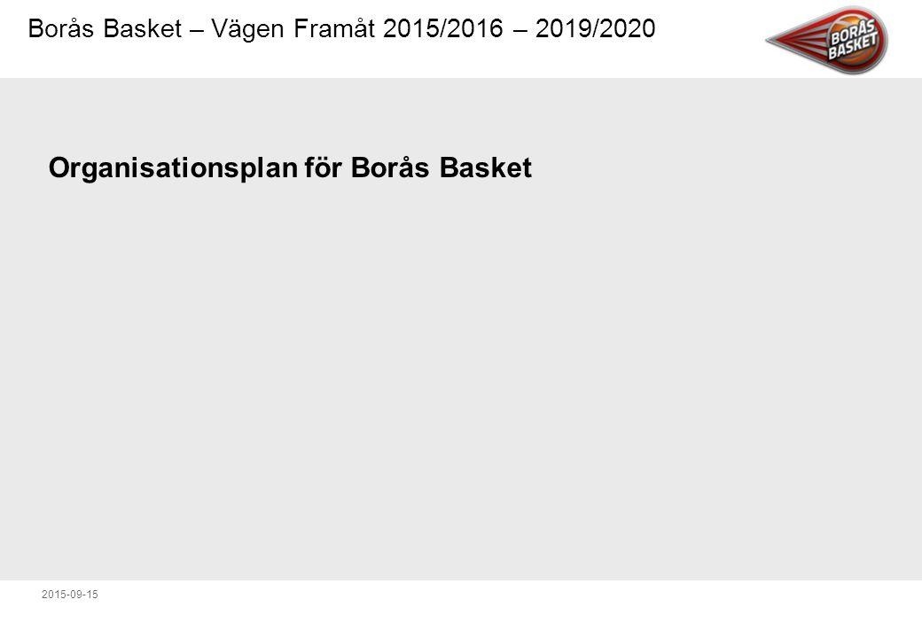 Organisationsplan för Borås Basket