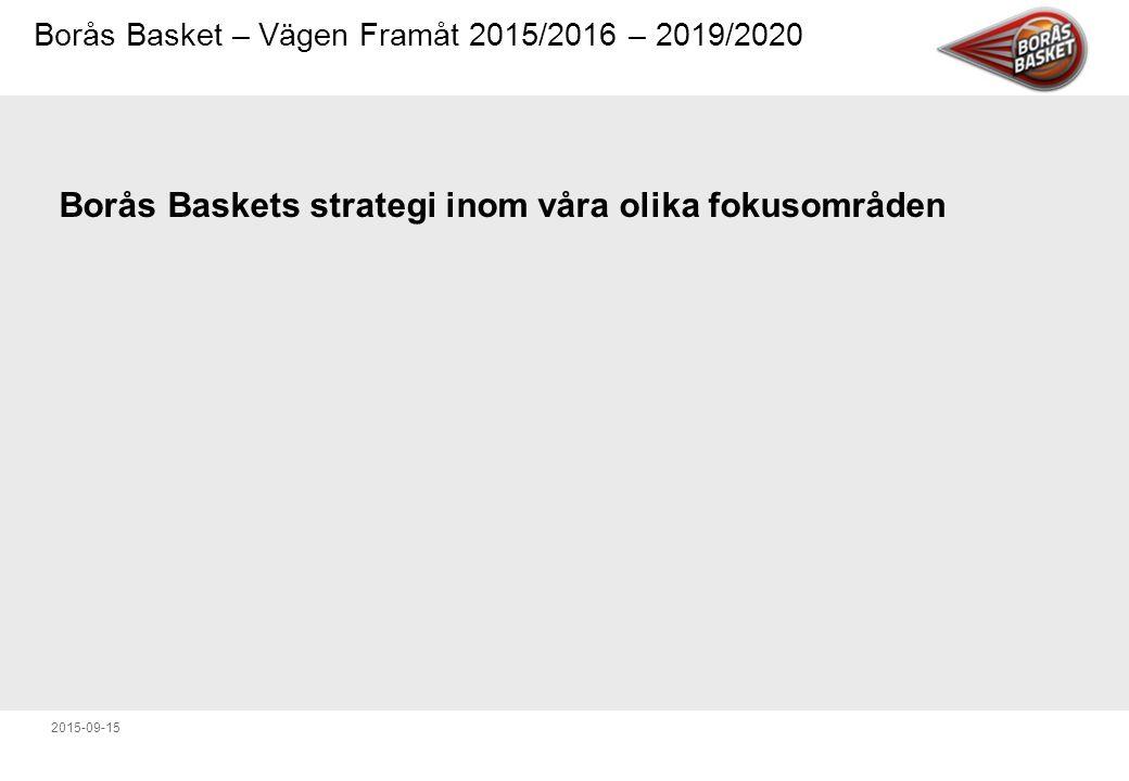 Borås Baskets strategi inom våra olika fokusområden