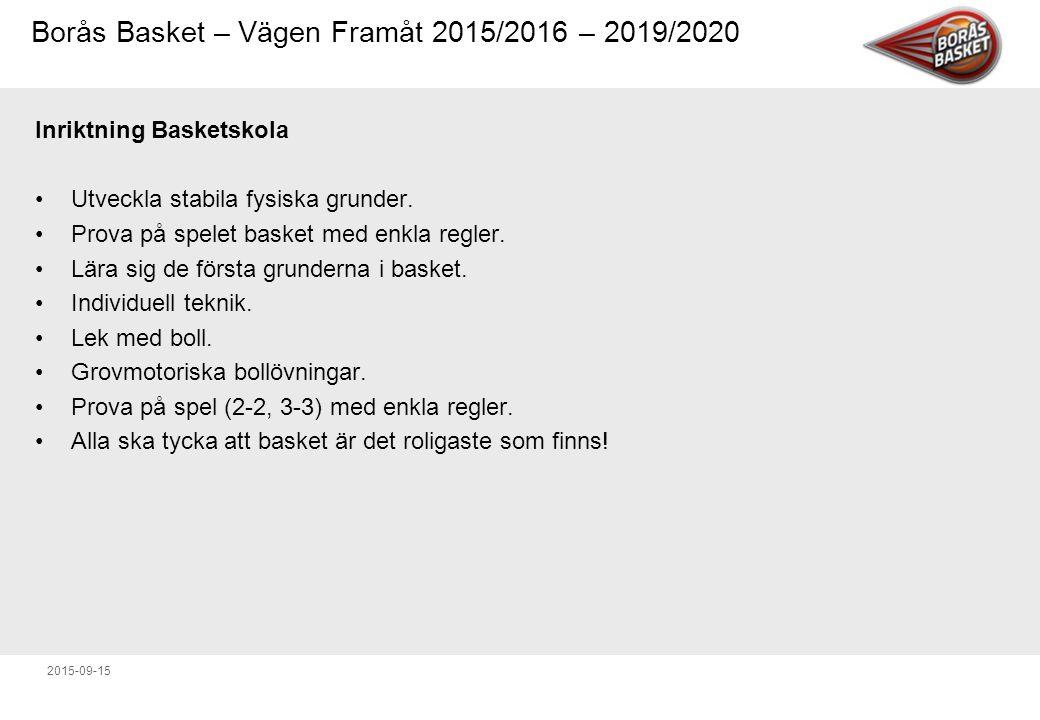 Inriktning Basketskola