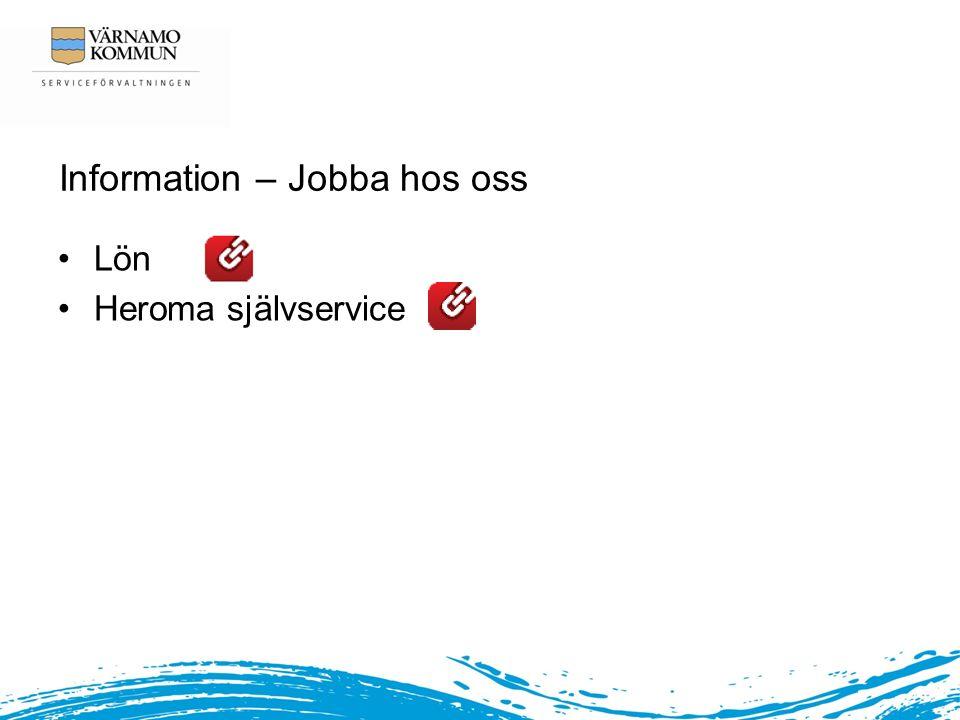Information – Jobba hos oss