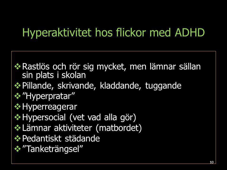 Hyperaktivitet hos flickor med ADHD