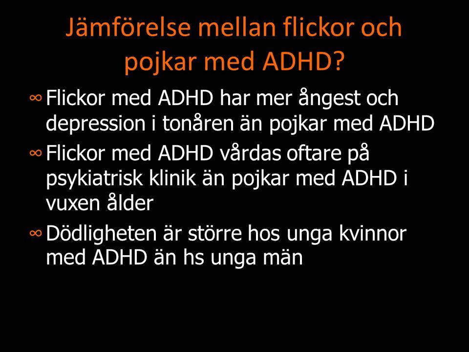 Jämförelse mellan flickor och pojkar med ADHD